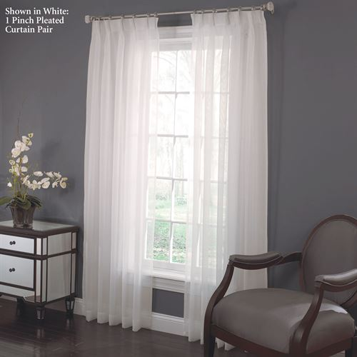 Larvotto Pinch Pleated Curtain Pair