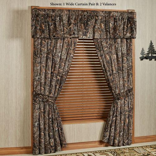 Conceal Brown Wide Curtain Pair Multi Warm 100 x 84