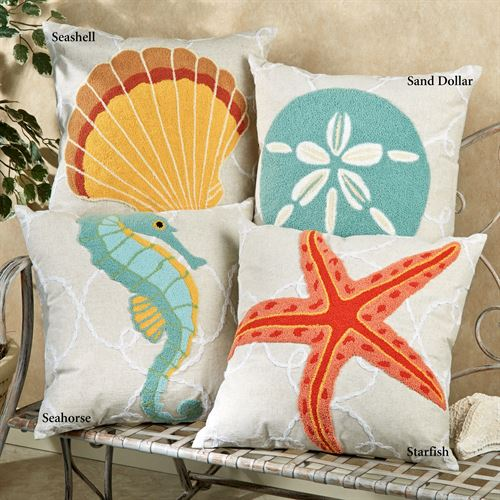 Washed Ashore Beach Themed Decorative Pillows Delectable Beach Themed Decorative Pillows