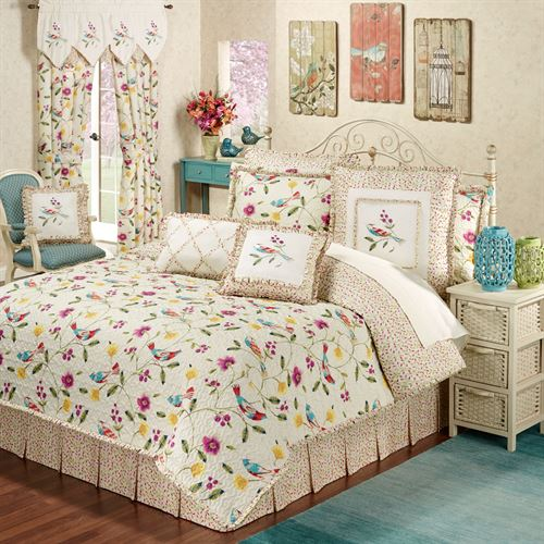 Sweet Tweet Quilt Set Light Cream
