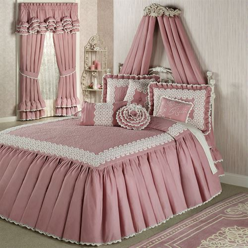 Memories Crochet Bedspread Blush