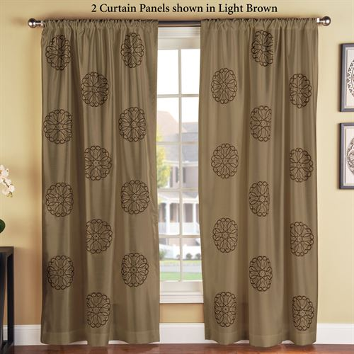 Brittany Embroidered Curtain Panel