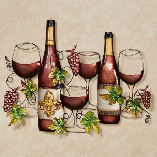 Fleur de Wine Wall Art Port