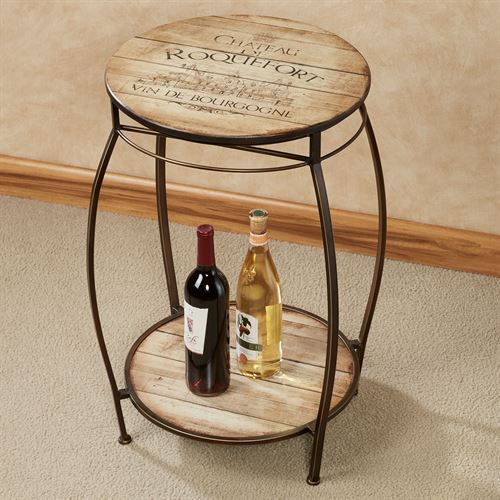 Chateau Vineyard Wine Rack Table Brown