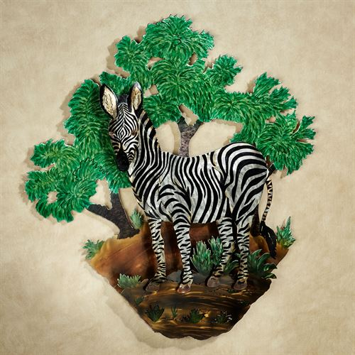 Zebra Wall Sculpture
