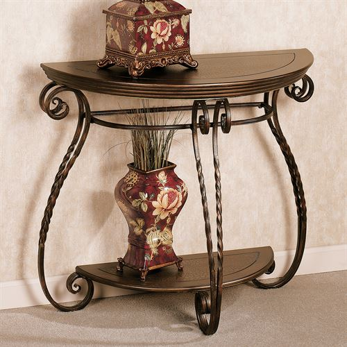 Benedetto Console Table Aged Bronze
