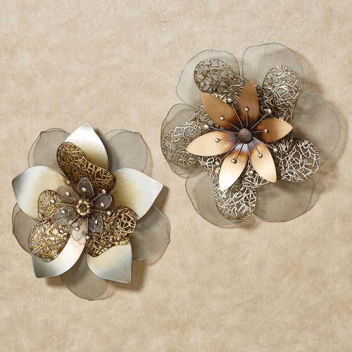 Penbrook Floral Wall Art Multi Metallic Set of Two