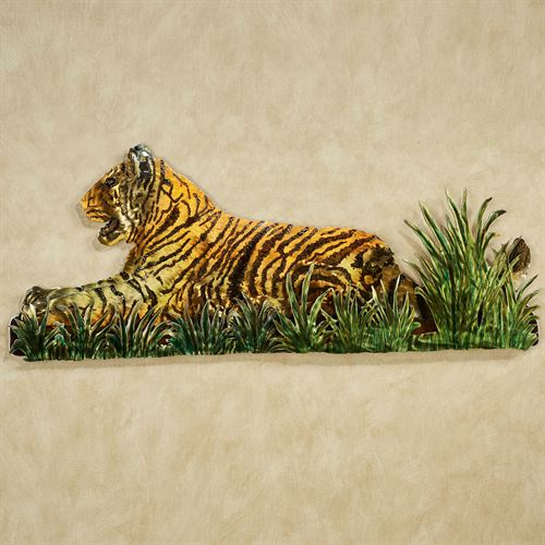 Jungle Watch Tiger Wall Sculpture