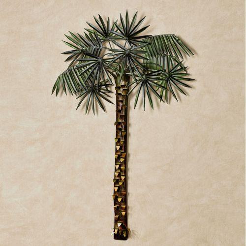 Paradise Palm Tree Tropical Wall Art Green