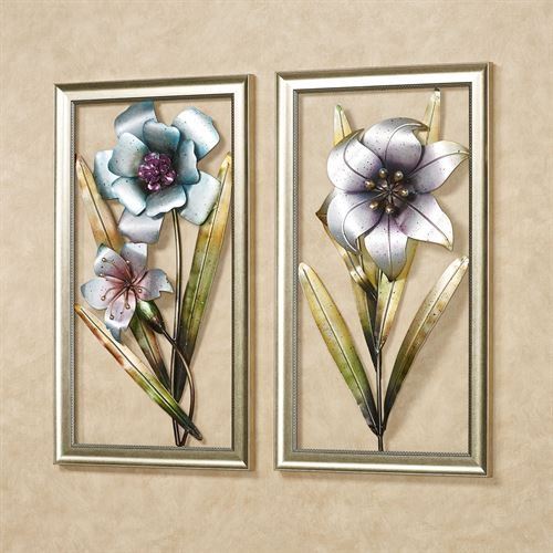 Floral Breeze Wall Art Multi Cool Set of Two