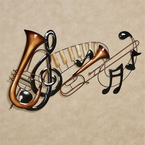 Musical Interlude Wall Art Multi Metallic