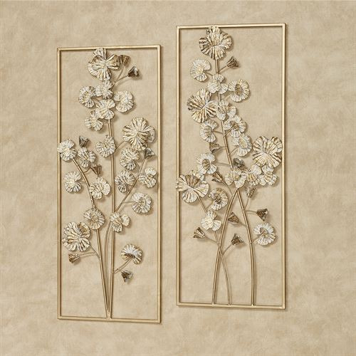 Oralie Orchids Wall Art Gold Set of Two