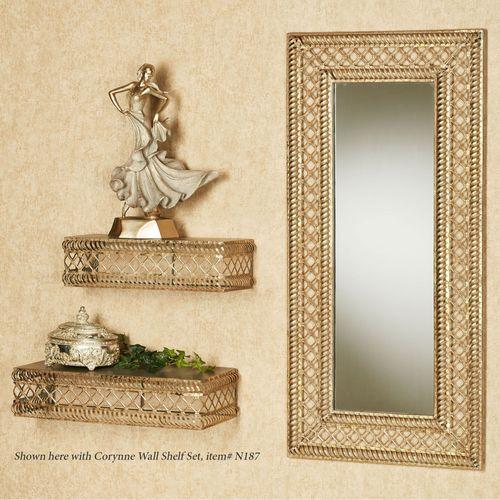 Corynne Wall Mirror Tarnished Gold