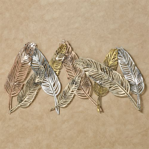 Feather Flutters Wall Art Multi Metallic