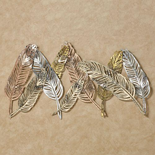 Feather Flutters Wall Art Multi Metallic