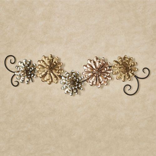 Alessia Blooms Wall Topper Multi Metallic