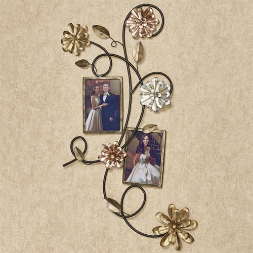 Alessia Blooms Photo Frame Wall Art Multi Metallic