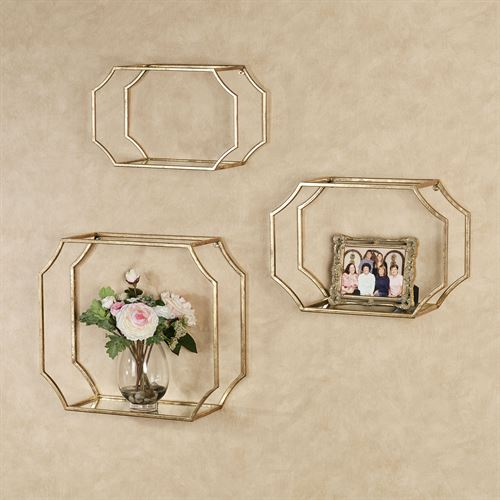 Laurent Wall Shelves Gold Set of Three