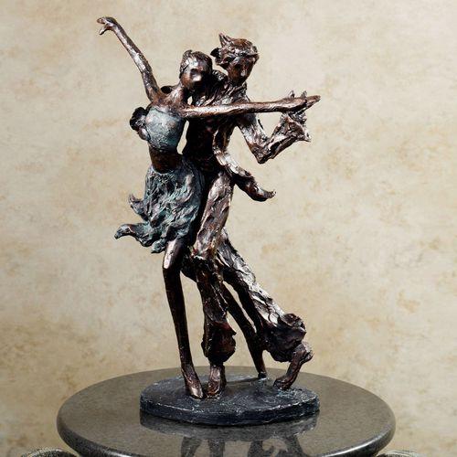 La Samba Dancing Table Sculpture Dark Bronze