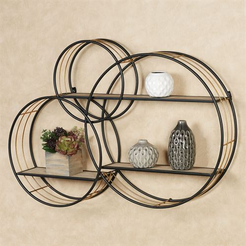 Macayle Circles Modern Wall Display Shelf