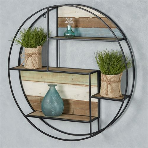 Delray Circle Wall Shelf Black