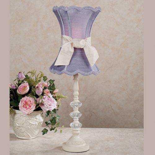 Rosalynn Lavender Table Lamp Ivory/Lavender Each