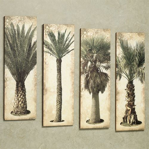Palmera Wall Art Set Green Set of Four