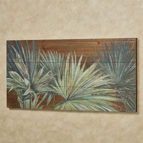 Tropical Foliage Wall Art Panel Green