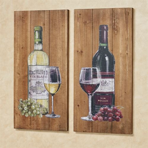Aged to Perfection Wine Wall Art Brown Set of Two
