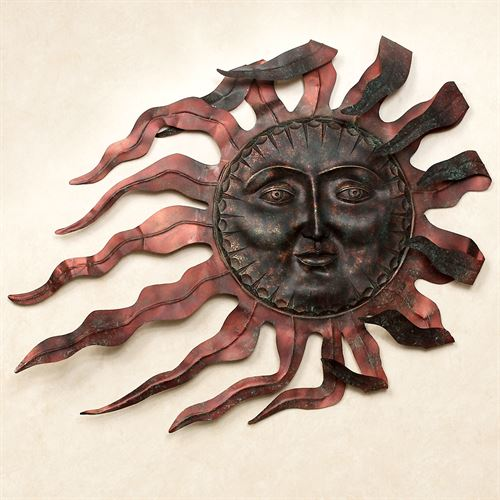 Ray du Soleil Metal Wall Sculpture Copper