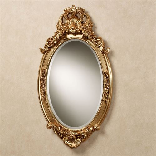 Hallandale Oval Wall Mirror Antique Gold