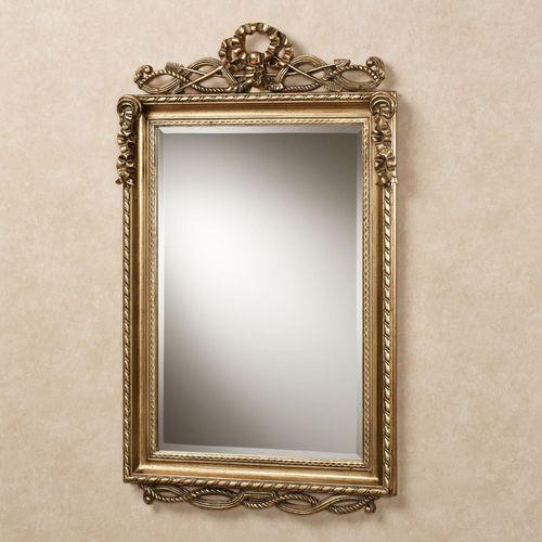 Lancaster Twist Design Wall Mirror Antique Gold
