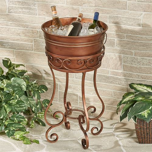 Copper Grove Ice Bucket Beverage Stand