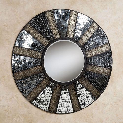 Brylee Mirrored Metal Wall Sculpture Clear
