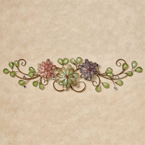 Spring Grace Floral Wall Topper Brown