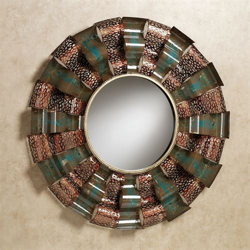 Ryker Wavy Wall Mirror Copper
