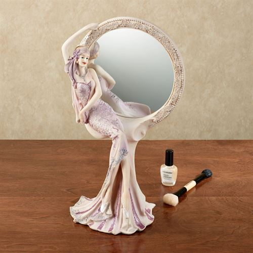 Graceful Beauty Lady Vanity Mirror Lilac