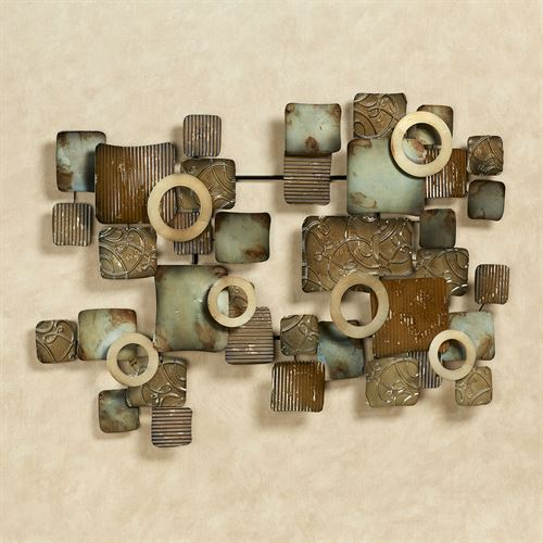 Urban Metal Wall Sculpture Multi Earth