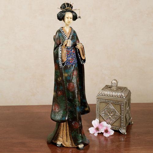 Geisha Greetings Figurine Multi Cool