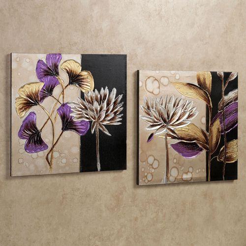 Garden Breeze Canvas Art Set Ivory Set of Two