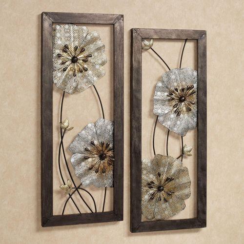 Malacia Floral Metal Wall Art Set Multi Metallic Set of Two