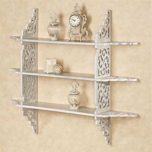 Sheyanne Tiered Wall Display Shelf Taupe