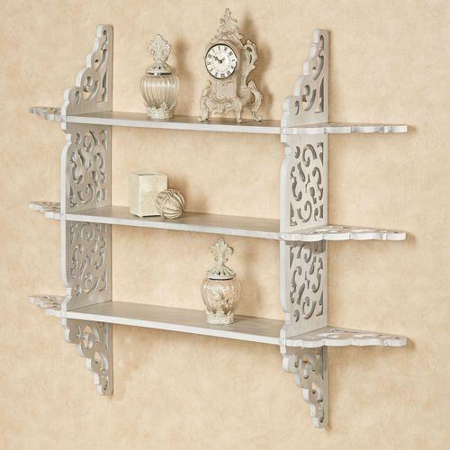 Sheyanne Tiered Wall Display Shelf White