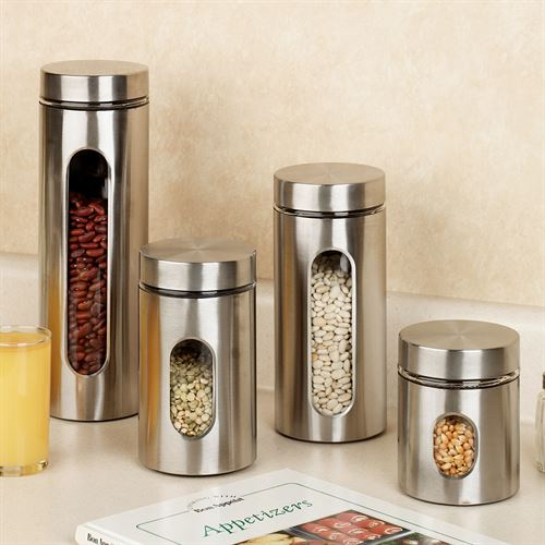 Palladian Stainless Steel Canister Set Set of Four