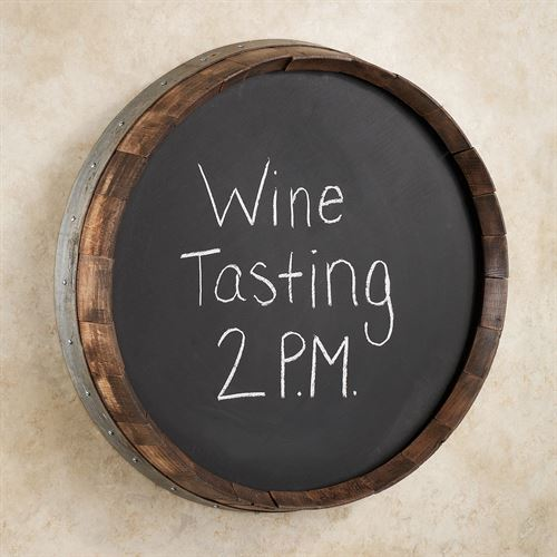 Wine Barrel Chalkboard Walnut