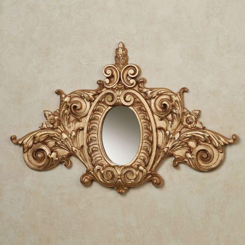 Megan Wall Accent Mirror Gold