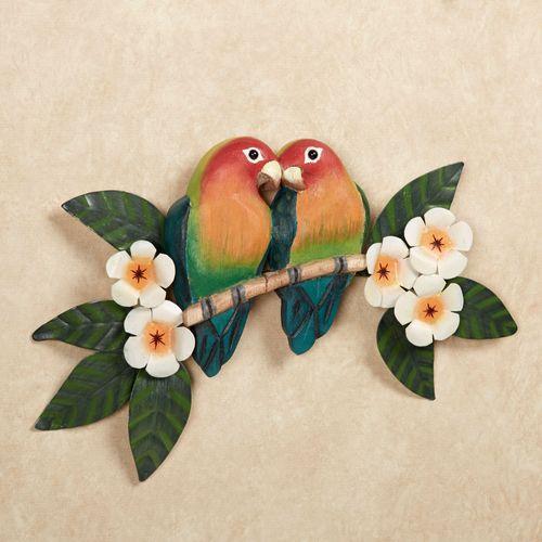 Lovebirds Parrot Wall Art Multi Bright