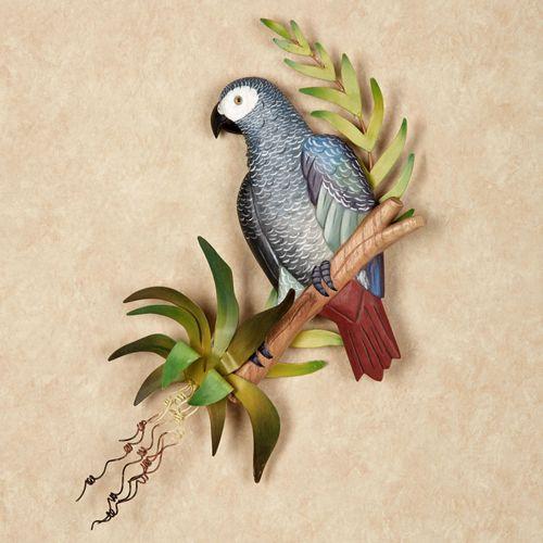 Peaceful Garden Parrot Indoor Outdoor Wall Art