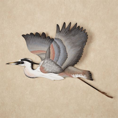 Heron Liftoff Wall Art Blue