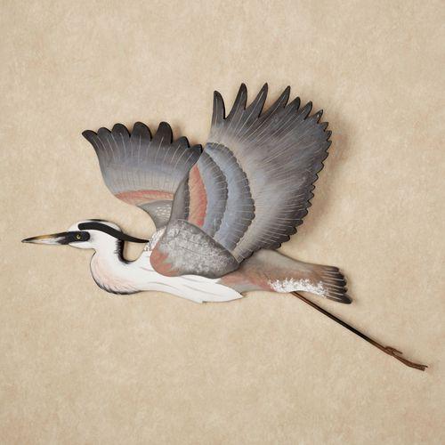 Heron Liftoff Wall Art Blue